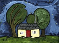 Cottage at Night Fine-Art Print