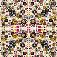Flowers in Squares Fine-Art Print