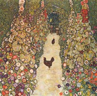 Garden Path with Chickens, 1916 Fine-Art Print