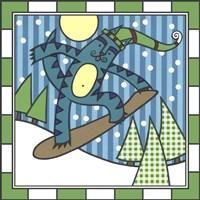 Max Cat Snowboard 1 Fine-Art Print