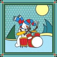 Coalman The Snowman Drums 1 Fine-Art Print