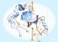Carousel Blue Fine-Art Print