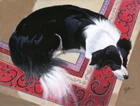 Dog on a Rug Fine-Art Print