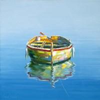 1 Boat Blue Fine-Art Print