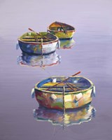 3 Boats Purple Fine-Art Print