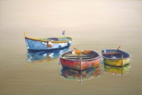 3 Boats Yellow Fine-Art Print