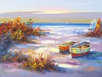 Boats On The Beach Fine-Art Print