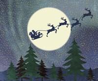 Santa Moon Fine-Art Print