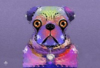 PUG Purple XXXIII Fine-Art Print