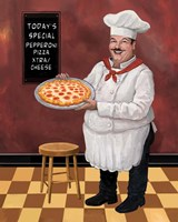 Pizza Chef Master Fine-Art Print