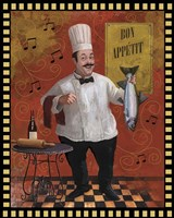 Chef Fish Master Design Fine-Art Print