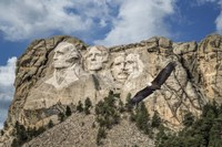 Mount Rushmore And Eagle Fine-Art Print