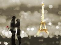 A Date in Paris (BW) Fine-Art Print