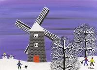 Winter Windmill Fine-Art Print