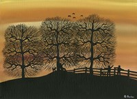 Silhouetted on the Hill Fine-Art Print