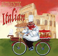 Bike Chef Colosseum Olive Fine-Art Print