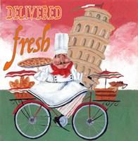 Bike Chef Pisa Green Fine-Art Print
