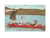 Woofing Along on the River Fine-Art Print