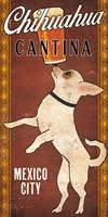 White Chihuahua on Red Fine-Art Print