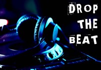Drop The Beat - Navy and Cyan Fine-Art Print