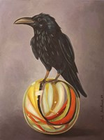Crow On A Marble Fine-Art Print