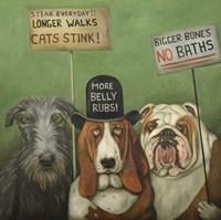 Dogs On Strike Fine-Art Print