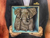 Elephant In A Box Fine-Art Print