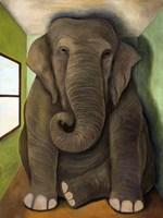Elephant In A Room Cracks Fine-Art Print