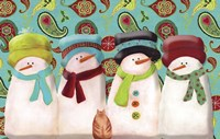 Paisley Snowmen Fine-Art Print