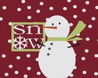 Snow Snowman Painted Fine-Art Print