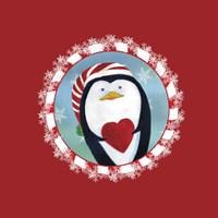 Christmas Critters Penguin Fine-Art Print