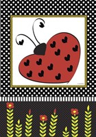 Ladybug Valentine Flag Fine-Art Print