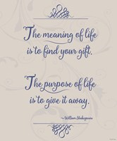 Meaning Of Life Per Shakespeare Fine-Art Print