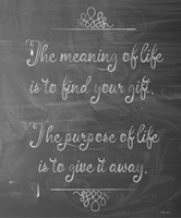 Meaning Of Life Chalk Fine-Art Print