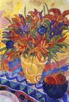 Tiger Lilies & Irises Fine-Art Print