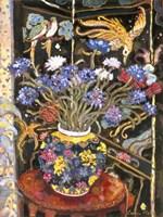 Cornflowers And Bird Screen Fine-Art Print