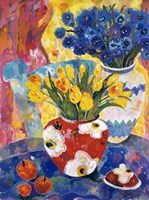 Redvase Of Yellow Tulips Fine-Art Print