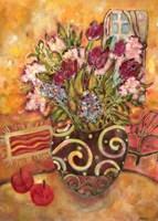 Elyseium Vase Of Flowers Fine-Art Print
