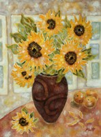 Sunflowers And Satsumas Fine-Art Print