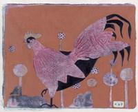 Sci-fi Purple Rooster 6 Fine-Art Print
