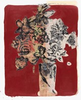 Bouquet Red Background Fine-Art Print