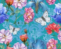 Roses And Butterflies (Pattern) Fine-Art Print