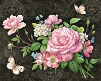 Roses And Butterflies Fine-Art Print
