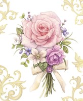 Small Bouquet With A White Bow Fine-Art Print