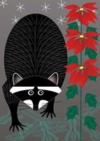 Raccoon Xmas Fine-Art Print