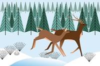 Romping Reindeer Fine-Art Print
