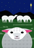 Vertical Christmas Sheep Fine-Art Print