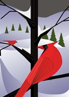 Xmas Cardinals Fine-Art Print