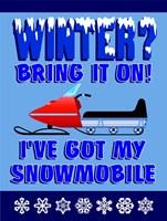 Winter Bring It Snowmobile Fine-Art Print