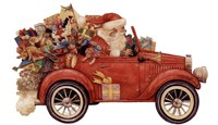 Santa In Car Fine-Art Print